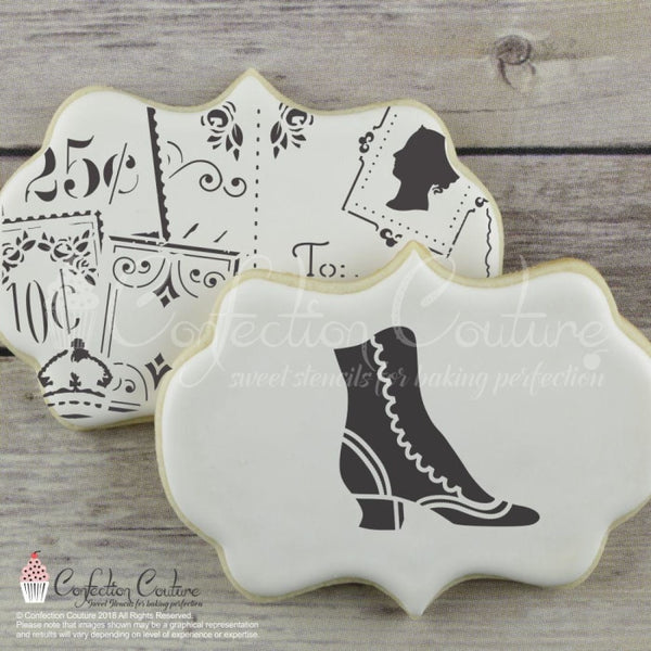 Victorian Lady Accent Cookie Stencil Accents