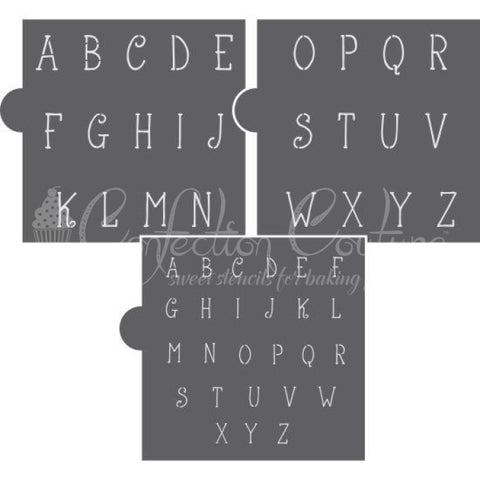 Vienna Thin Alphabet Cookie Stencil Set Alphabet