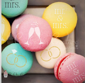 Wedding Round Cookie Stencil 3 Pc Set 1 Inch Round