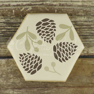 Woodland Christmas Accent Cookie Stencil Accents