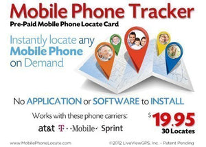 Prepaid Mobile Phone Locate Card 30 Locates