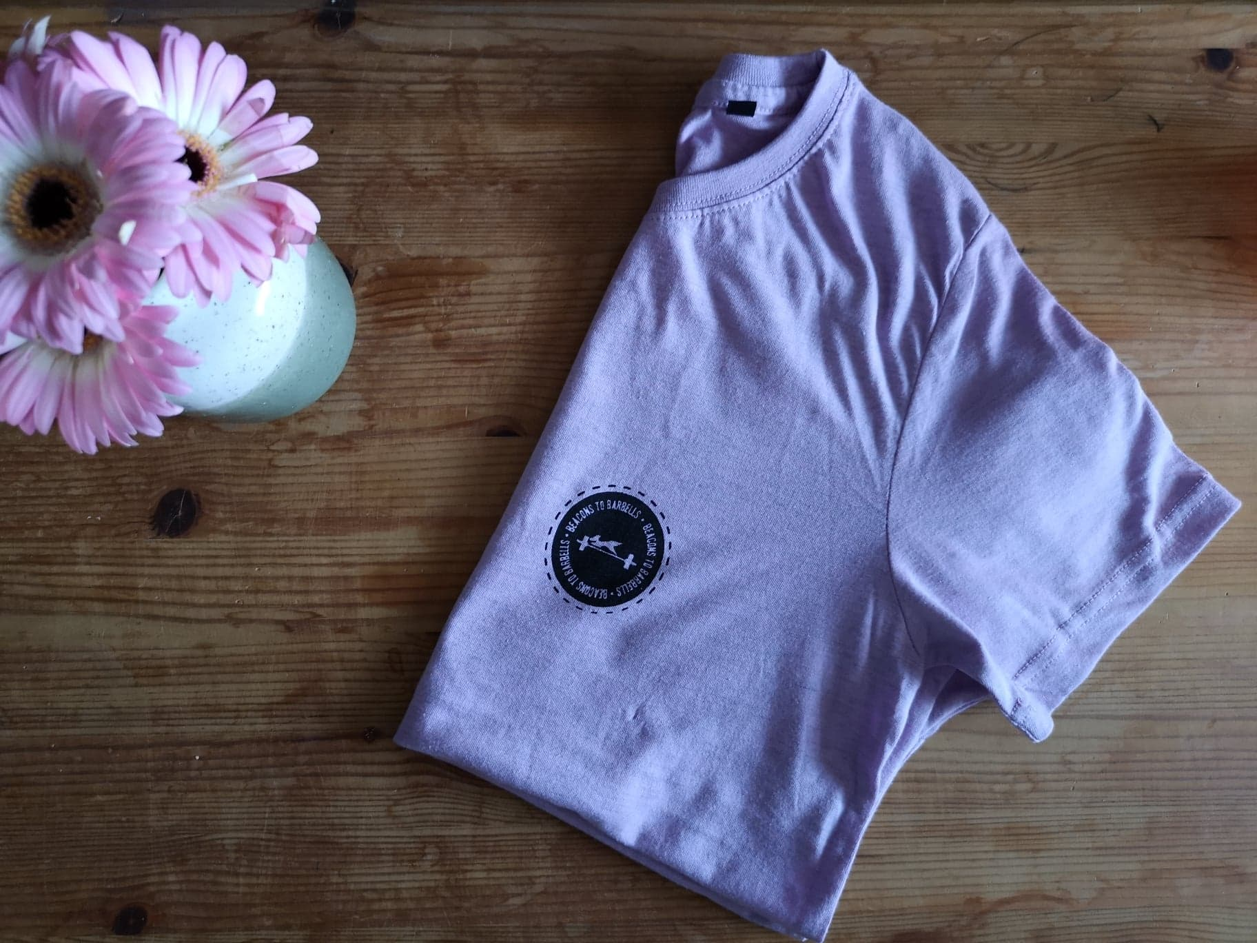 Lilac and Black Tee