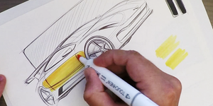 Industrial Design Sketching – Where to Put Markers
