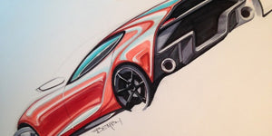 9 Steps to Sketch a Car with Markers