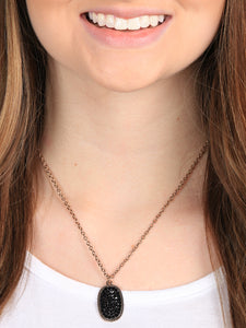 Zoe's Oval Pendant Necklace