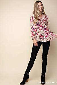 The Fall Florals Long Sleeve Top