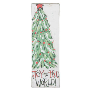 Joy to the World Christmas Tree Canvas