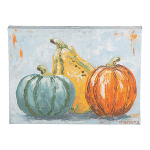 Pumpkins and Gourd Thankful Canvas