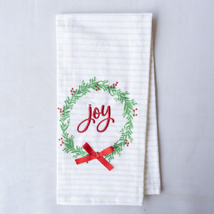 Joy Wreath Hand Towel