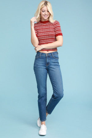 Judy Blue || Heather High-Waisted Relaxed Fit Jeans