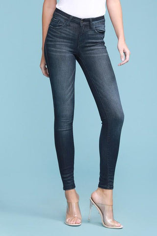 Judy Blue Hailey Mid-Rise Rayon Skinny Jeans