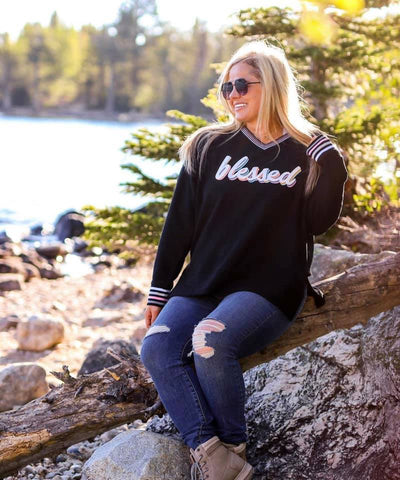 Blessed Corded Fleece Pullover