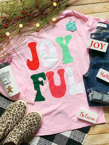 Joyful Longsleeve Comfort Color Tee