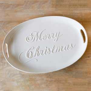 Merry Christmas Embossed Platter