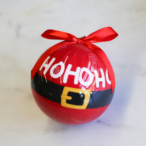 "HoHoHo Santa Belt 4"" Ball Ornament"