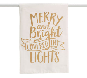 Merry and Bright Lights Towel