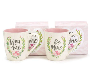 18oz You & Me or Be Mine Floral Mug