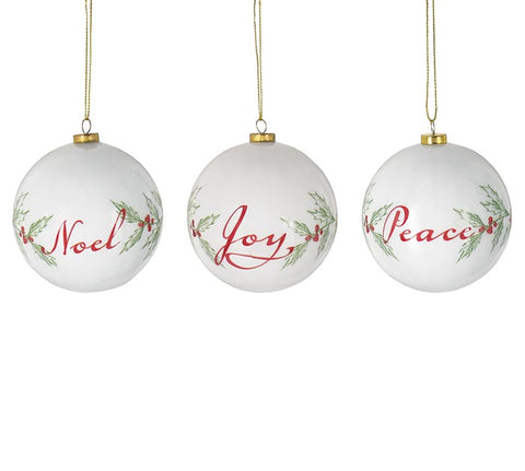 White Mistletoe Ornaments