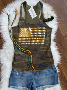 Gold Flag Camo Tank Top