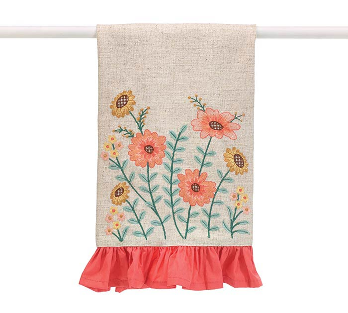 Blooming Meadow Floral Tea Towel