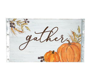 Gather with Pumpkins Wall Hanging