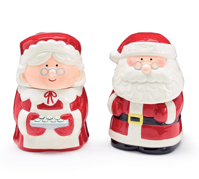 Santa OR Mrs. Claus Ceramic Candy Dish