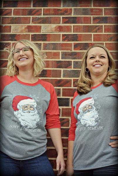 LH Believe in Santa Raglan