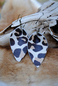 Leopard Petal Earrings