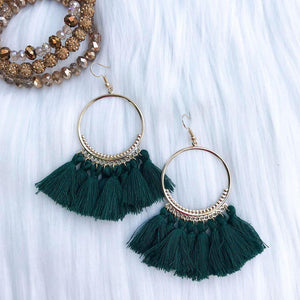 Classic Emerald Tassel Earrings