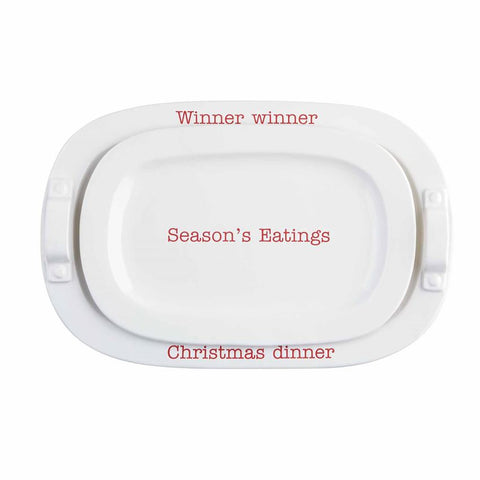 Christmas Dinner Serving Tray Set