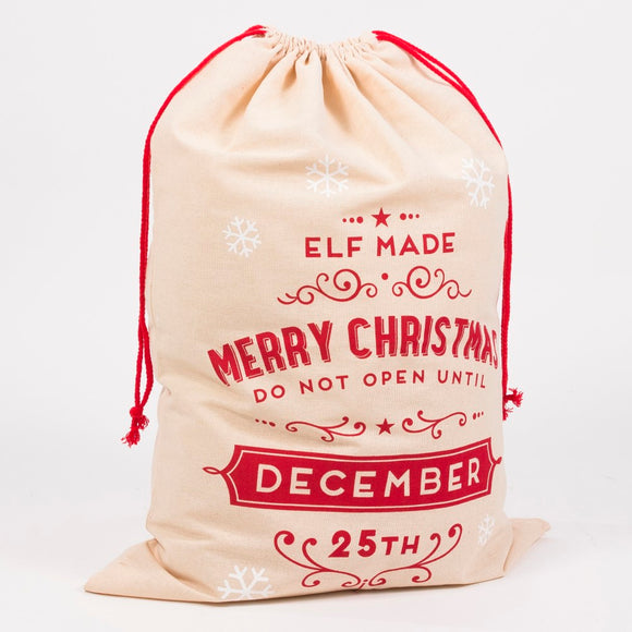 Elf Made Gift Sack