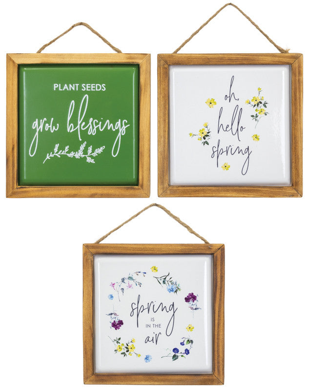 Spring Floral Air Grow Signs