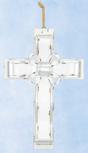 Metal Banded Large Cross