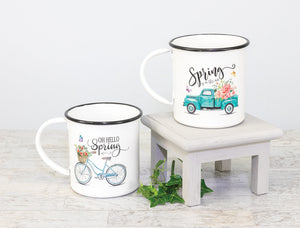 Spring Cycle Truck Decorative Mug