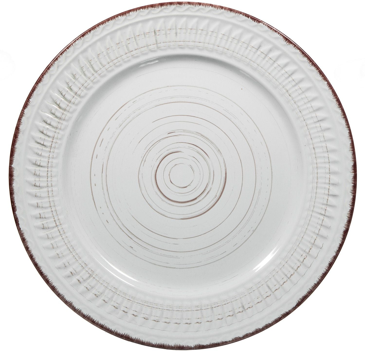 Cosenza Wht Rd Salad Plate