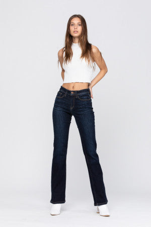 Savana Rose Dark Bootcut Jeans