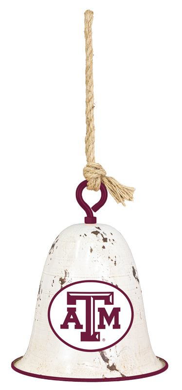 Texas A&M Distressed Hanging Bell
