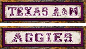 Texas A&M Distressed Long Sign