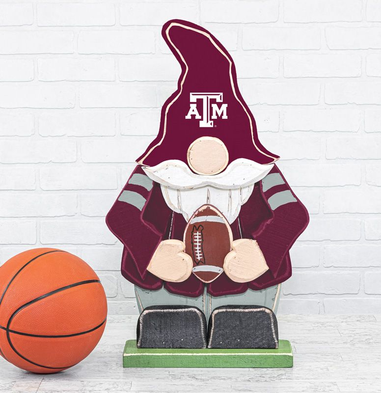 Texas A&M Wooden Gnome Stander