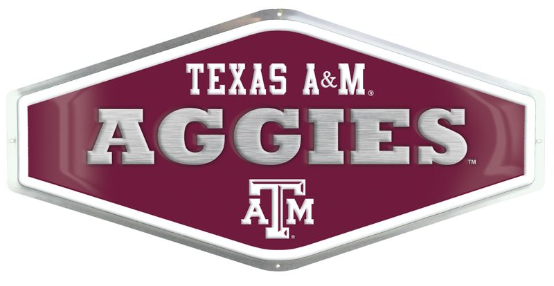 Texas A&M Embossed Metal Sign