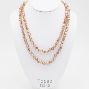 "60"" Bead Necklace - Topaz"
