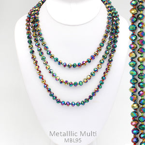 "60"" Bead Necklace - Multi Metallic"