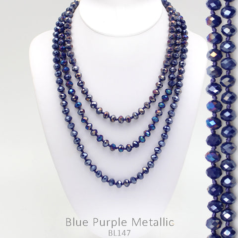 "60"" Bead Necklace - Violet"