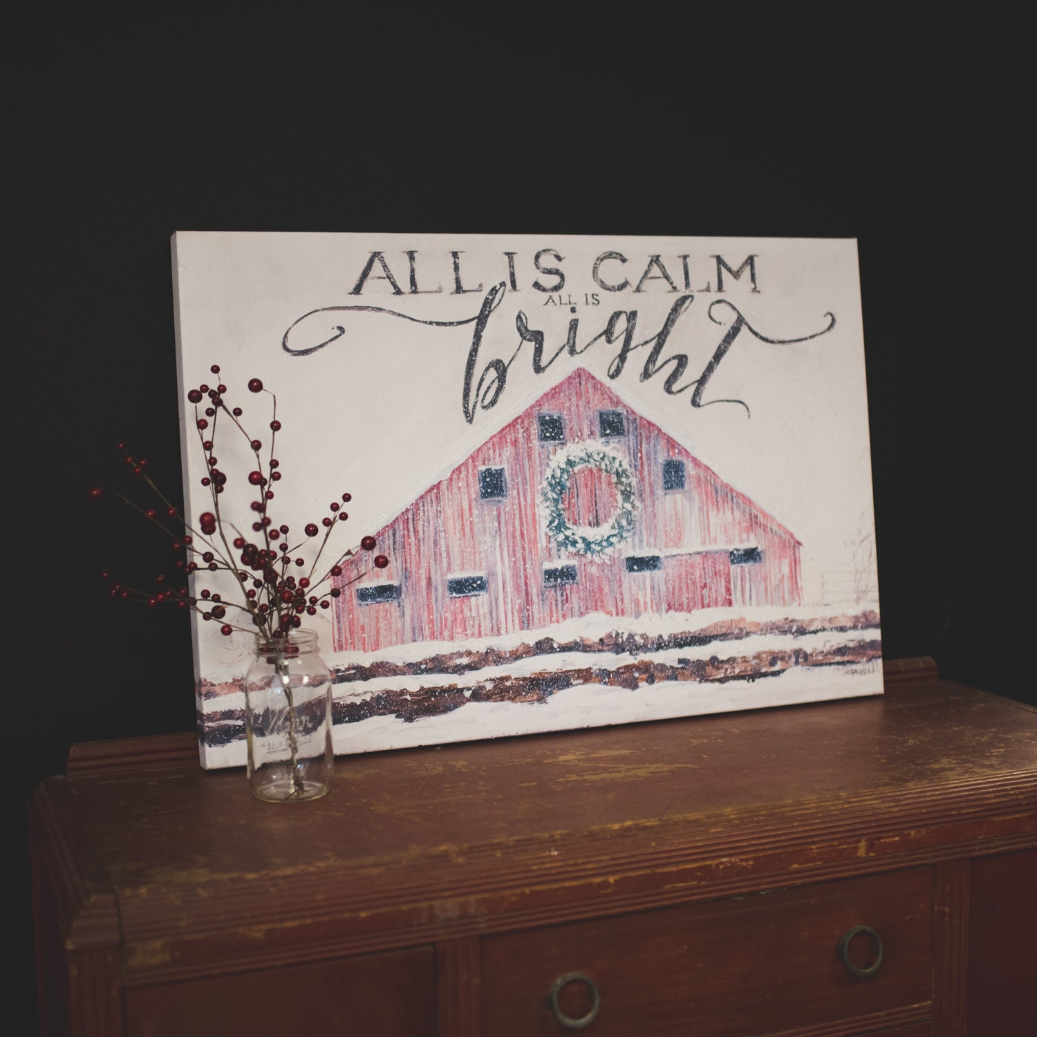 All Is Calm Canvas