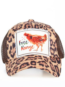Free Range Patch Leopard Hat