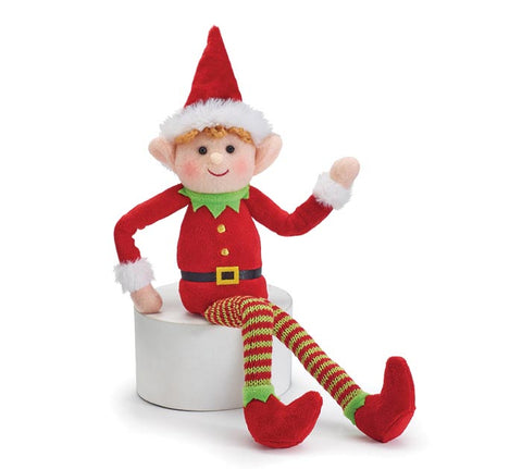 Boy Elf Christmas Plush