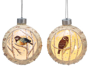 Glass LED Bird Ornament
