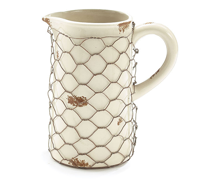 Ivory Wire Wrapped Pitcher
