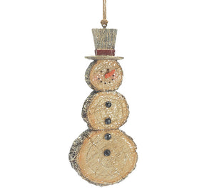 Snowman Ornament Resin/Wood