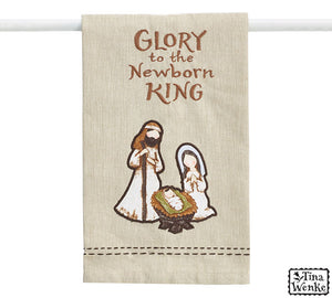 Glory to the Newborn King Towel